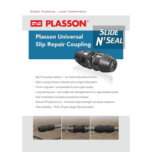 Plasson Universal Slip Repair Coupler