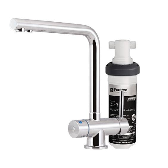 Puretec Z1 - Tripla | Quick Twist Undersink Filter with Tripla LED Mixer Tap