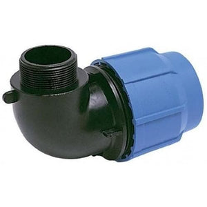 Alprene Metric Poly Fittings - Male Threaded Elbows-Poly Pipe & Fittings-Land and Water Technology