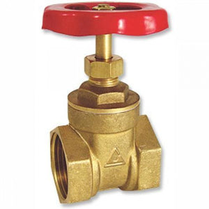 Brass Gate Valve (UNTESTED) Rated to 200PSI-Valves & Valve Boxes-Land and Water Technology