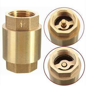 Brass In-Line Spring Check Valve-Valves & Valve Boxes-Land and Water Technology