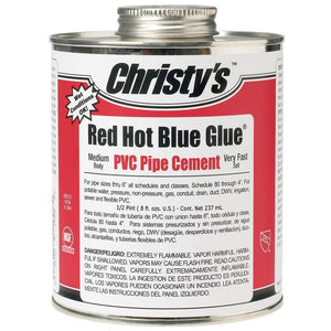 Christy's Red Hot Blue Glue-PVC Pipe & Fittings-Land and Water Technology