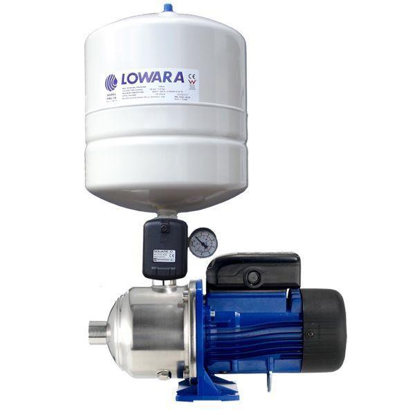 Lowara BG Series Domestic Pressure Pump System - Pump with Tank and Switch