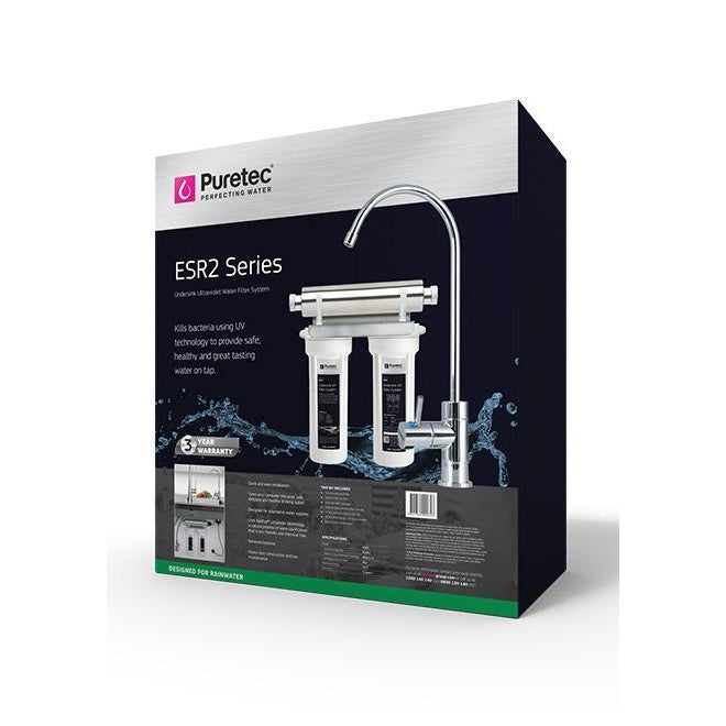 Puretec ESR2-Tripla Series | Undersink UV Water Filter System