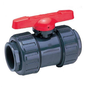PVC Double Union Ball Valves - Threaded-Valves & Valve Boxes-Land and Water Technology