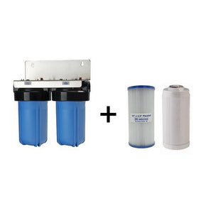 "Whole House Twin Filter System Complete 10"" x 4.5"" (with cartridges)"