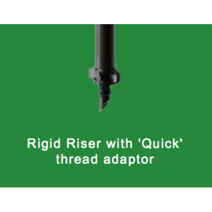 Rigid Riser Tubes - Thread Adaptor Fitted-Poly Pipe & Fittings-Land and Water Technology