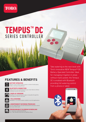 Toro Tempus DC Battery Powered Bluetooth Controller Brochure