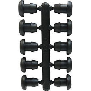 Low Density Poly Goof Plugs 4mm Racks of 10