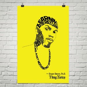 "Thug Notes – Sparky Sweets Quote Poster – 24""x36"""