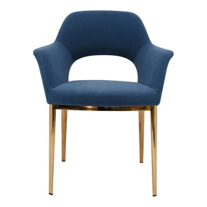 Carmel Dining Chair Blue Velvet