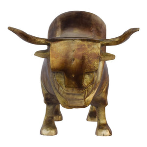 Golden Bull Sculpture
