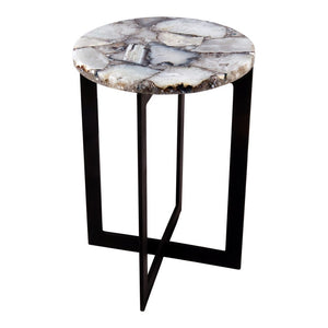 Blanca Agate Accent Table