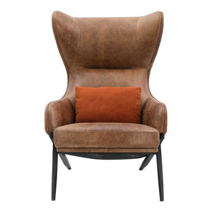Amos Leather Accent Chair