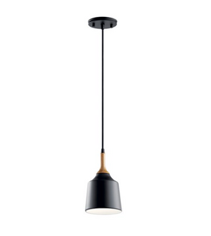 Danika 1 Light Mini Pendant Black - IN STOCK