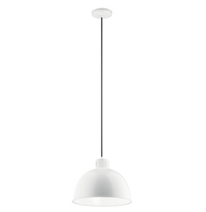 "Zailey™ 12.5"" 1 Light Pendant White - IN STOCK"
