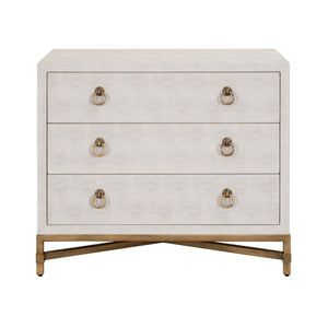 Strand Shagreen 3-Drawer Nightstand
