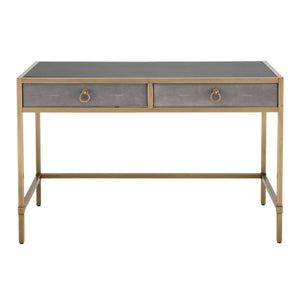 Strand Shagreen Writing Desk - Grey