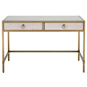 Strand Shagreen Writing Desk - White