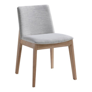 Deco Oak Dining Chair Light Grey