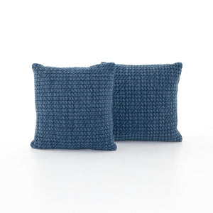 "Abella Pillow Set of two 20""  Pillows - Persian Blue"