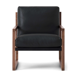 Chiara Lounge Chair - Leather / Walnut - IN STOCK