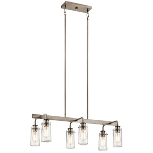 "Braelyn™ 11.25"" 6 Light Linear Chandelier"