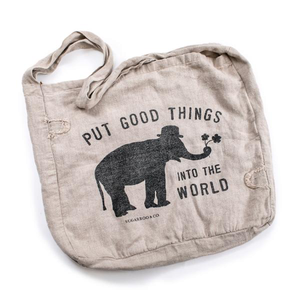 Put Good Things Into The World Messenger Bag