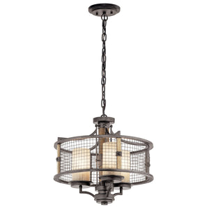Ahrendale™ 3 Light Convertible Chandelier Anvil Iron