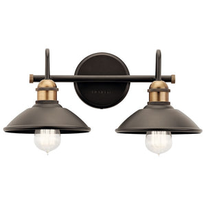 Clyde 2 Light Vanity Light Olde Bronze - IN STOCK