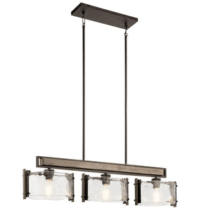 Aberdeen 3 Light Linear Chandelier Olde Bronze