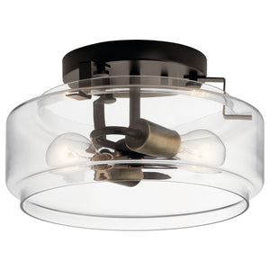 Alamosa 2 Light Flush Olde Bronze