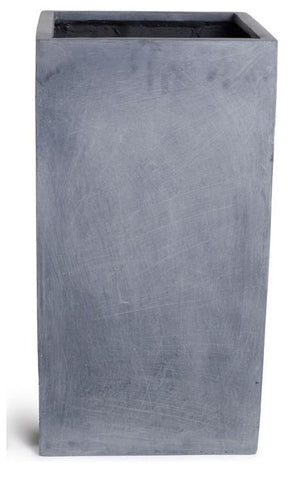 "Fiberglass Column Planter with Lead Finish - 20""W"