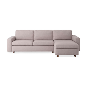 Reva 2-Piece Sectional Sleeper Sofa with Storage Chaise - Fabric