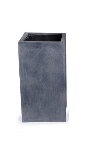 "Fiberglass Column Planter with Lead Finish - 12""W"