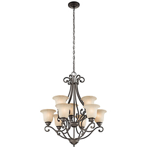 "Camerena™ 34.5"" 9 Light Two Tier Chandelier"