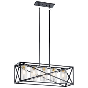 Moorgate 5 Light Linear Chandelier