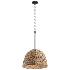 Raffiana 1 Light Pendant Olde Bronze - IN STOCK