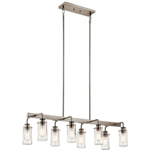 "Braelyn™ 11.25"" 8 Light Linear Chandelier"