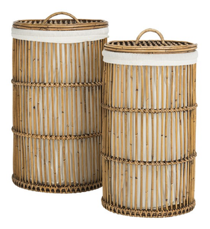 Libby Rattan Storage Hamper With Liner