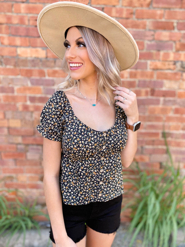 Malia Floral Button Down Top