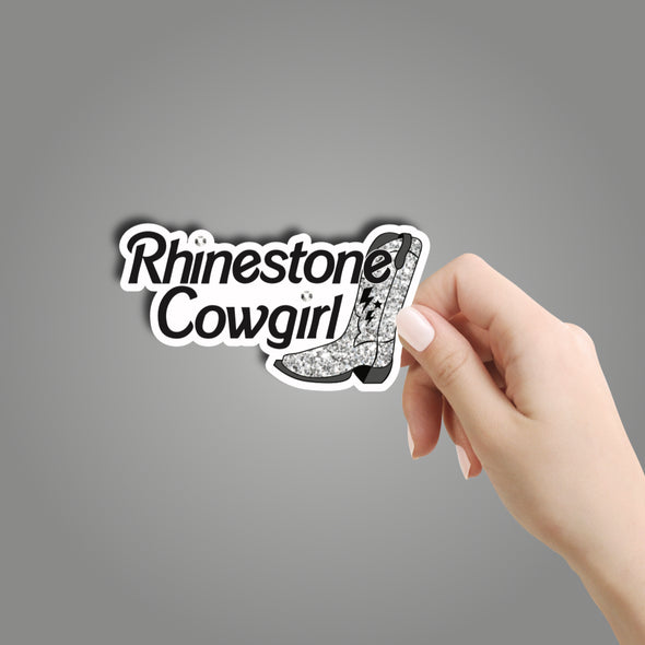 Rhinestone Cowgirl Sticker