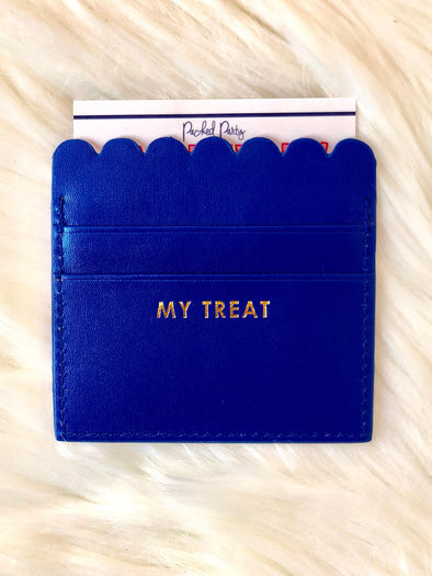 My Treat Scalloped Card Holder - Texas Bling