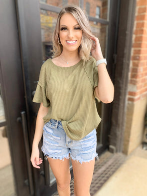 Courtney Top- Sage - Texas Bling