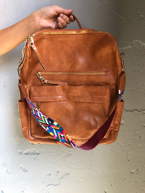 Zara Backpack Purse- Camel - Texas Bling