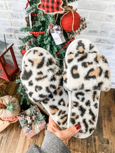 Leopard Furry Slide Slippers