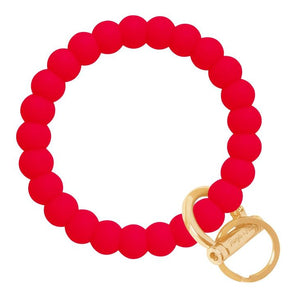 Bubble Bangle Key Ring- Red/Gold