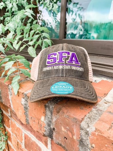 Split Line SFA Trucker Hat- Black