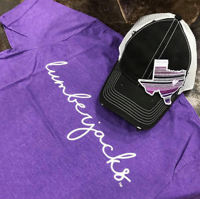 Purple Serape TX Hat - Texas Bling