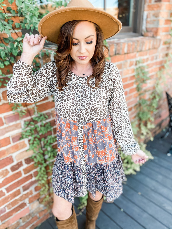 Samara Ditzy Leopard Print Dress